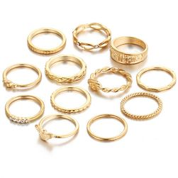 Női gyűrű készlet - 12 db