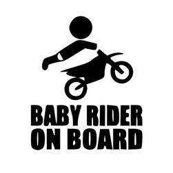 Nalepnica sa motociklom - dete na brodu