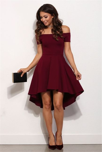 Elegantní jednobarevné šaty - Červená - velikost č. 4 1