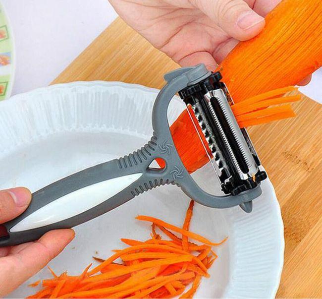 Multifunkcionalni okretljiv nož za ljuštenje povrća 1
