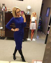 Женское вязаное платье Korina