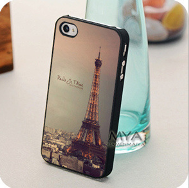 Plastový ochranný kryt na iPhone 4 a 4S - motiv Eiffelova věž 1