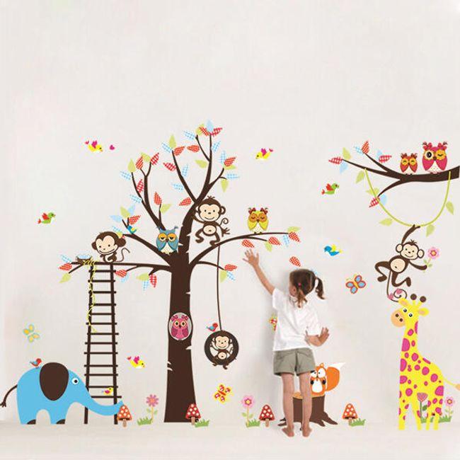Otroška nalepka z veselimi živalmi 1