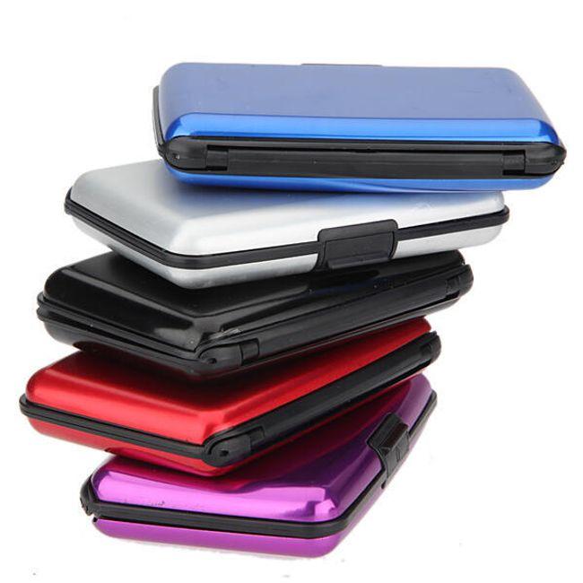 Eleganten aluminijast etui za vizitke in kreditne kartice - izberite med 5 barvami, nepremočljiv 1