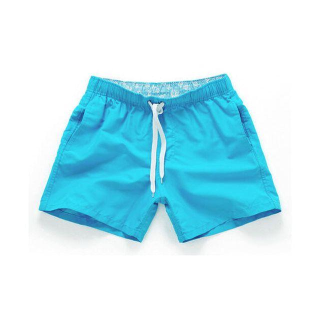 Krátké jednobarevné pánské plavky - 12_velikost č. 5 1