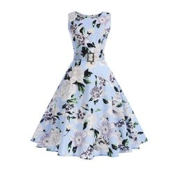 Женское летнее платье с поясом - 9 вариантов