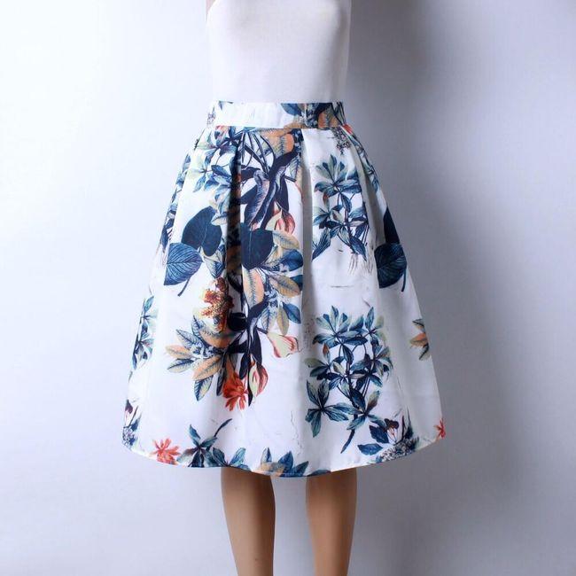 Skládaná delší sukně s různými vzory - 19 1