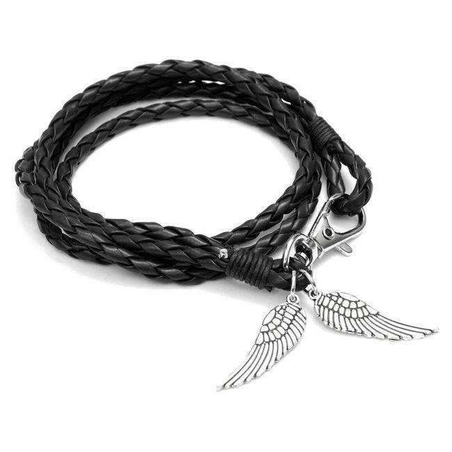 Fonott karkötő angyal szárnyakkal 1