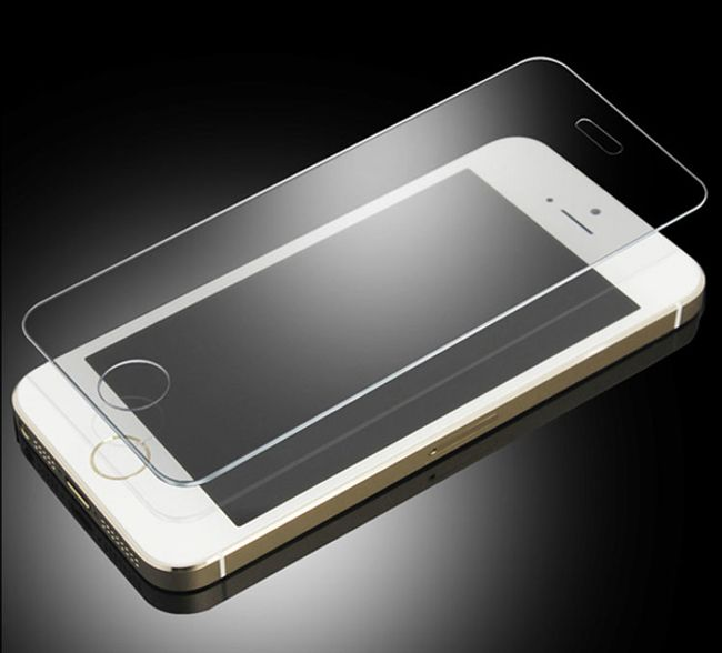 iPhone 5 5S 5c için temperli cam - darbelere dayanıklı 1
