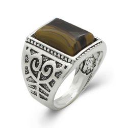 Pánský prsten s kamínkem
