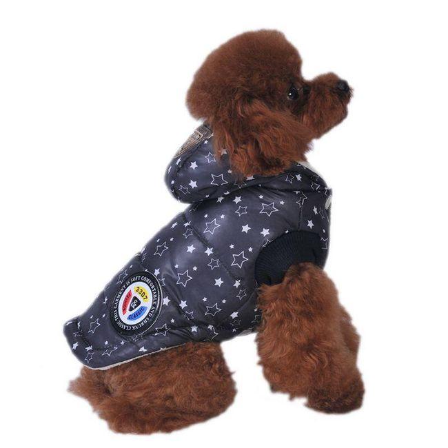Зимняя куртка для собак со звездочками- 2 расцветки 1