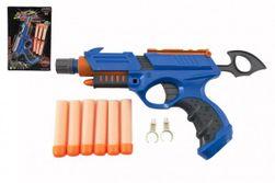 Pistole 25cm na pěnové náboje plast 6ks nábojů + doplňky na kartě RM_00312938