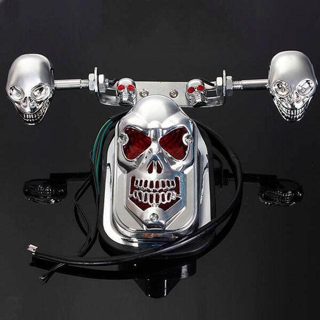 Zadnje svetlo za motocikl u obliku lobanje 1