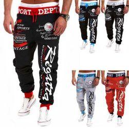 Pantaloni sport cu imprimeu expresiv - 3 culori