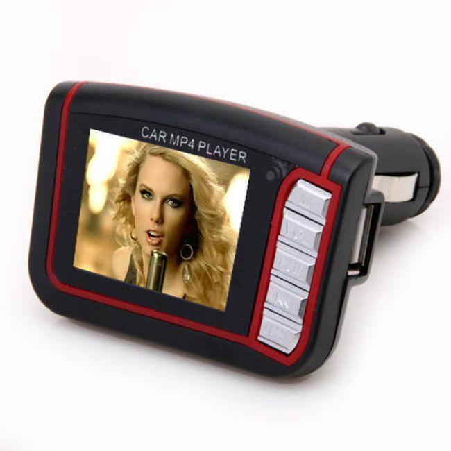 MP4 FM transmitter z 1,8'' TFT ekranem na flash disk i kartę pamięciową SD 1