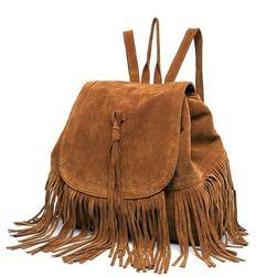 Dámský batoh s třásněmi