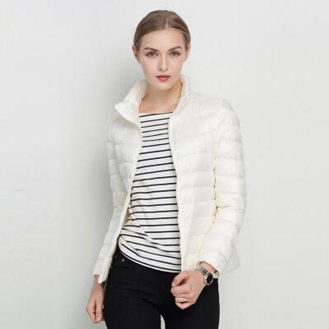 Prošívaná dámská bunda - Bílá - velikost č. 6 1