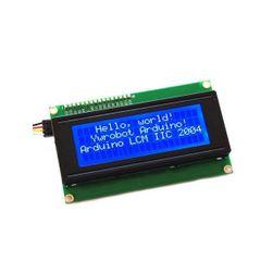 Ecran LCD cu fundal albastru pentru Arduino - 20 de caractere, 4 linii