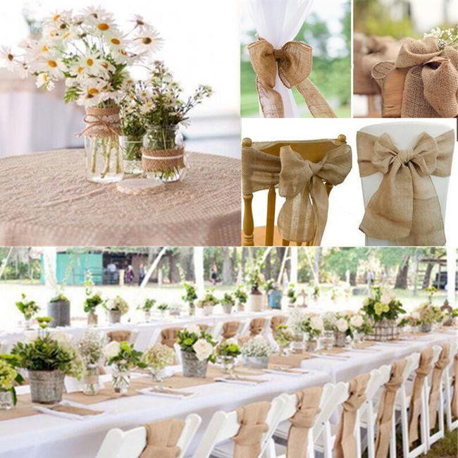 Decorațiune de iută pentru nunți și alte sărbători 1