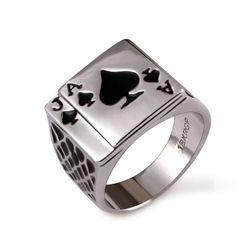 Pánský prsten v podobě pokerové karty