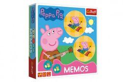Pexeso papírové Prasátko Peppa/Peppa Pig společenská hra 36 kusů v krabici 20x20x5cm RM_89001893