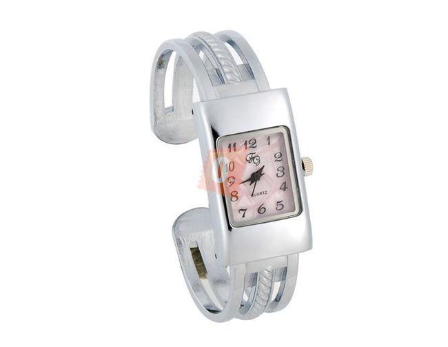 Dámské obdélníkové hodinky - stříbrná barva 1