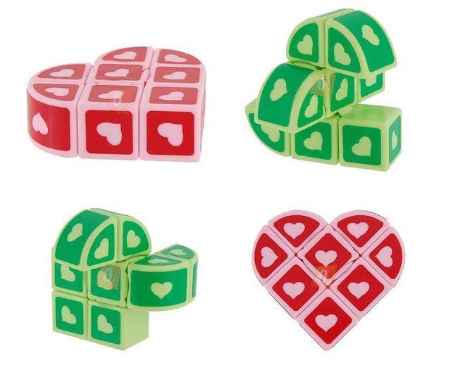 Skládačka ve tvaru srdce - na výběr ze 2 barev 1