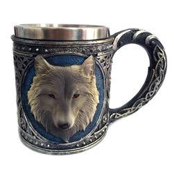 Kubek metalowy z wilkiem - 450 ml