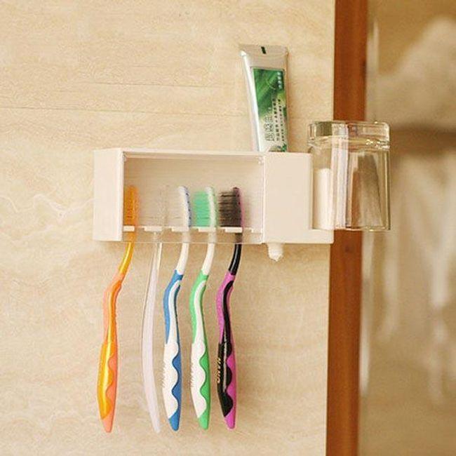 Multifunkcionális tartó a fürdőszobához - fogászati higiénia 1