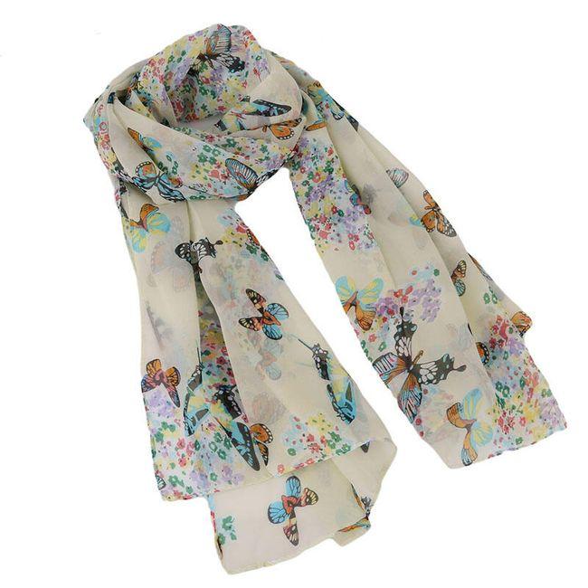 Dámský šátek s barevnými motýlky  1