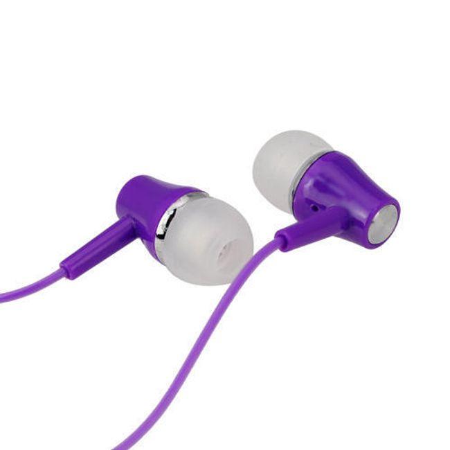 Stereo sluchátka 3,5mm - špunty, fialové 1