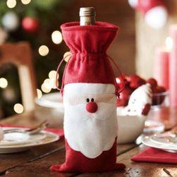 Wesoła dokoracja świąteczna na butelkę wina
