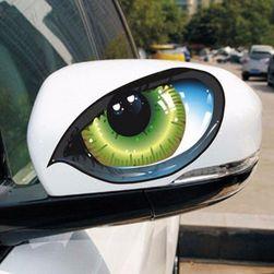Autó matrica - macska szem
