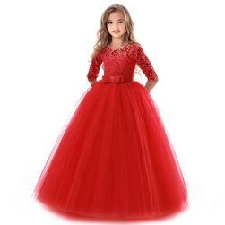 Obleka za deklice - rdeča 6