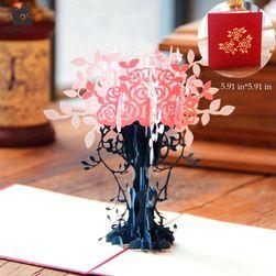 Čestitka sa 3D cvećem