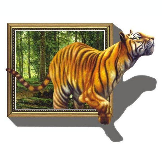 3D naljepnica za zid sa tigrom 1
