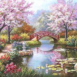Оцветяване според цифри - пролетен пейзаж
