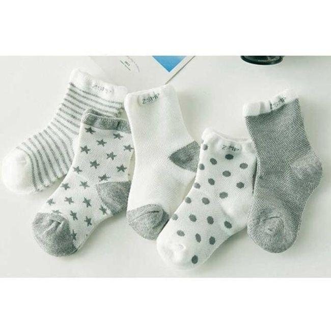 Dětské ponožky - 5 párů 1