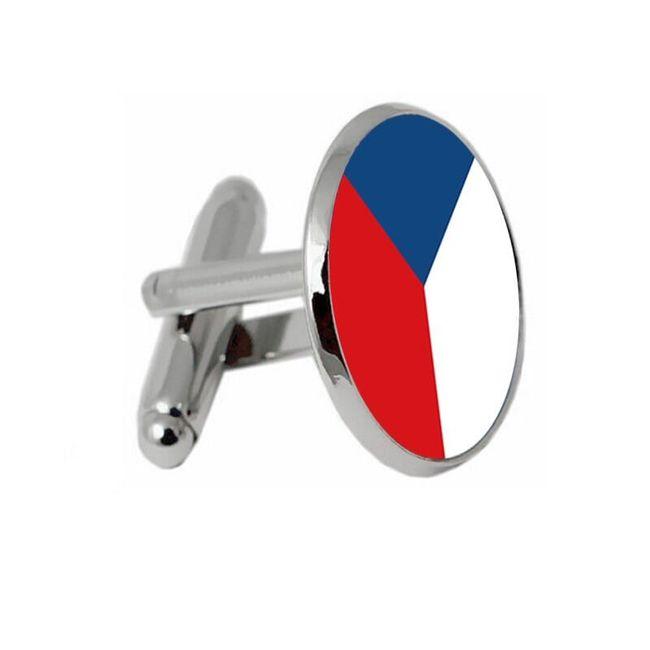 Mandzsettagombok cseh zászlóval
