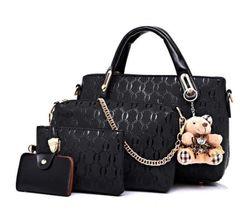 Комплект дамски чанти с разкошна висулка