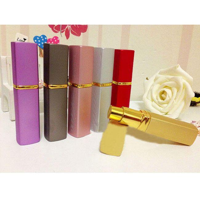 Kanciasty flakonik na perfumy - czerwony 1