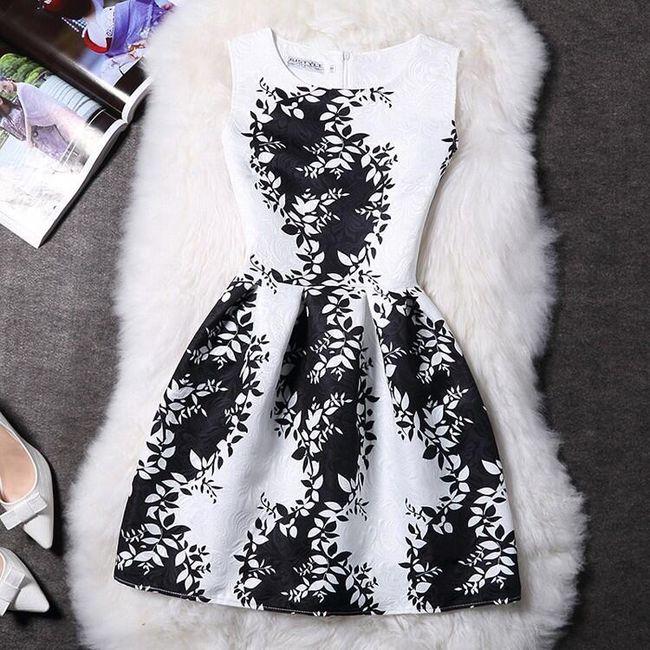 Elegantní šaty s originálními motivy - Varianta 19 - Velikost 3 1