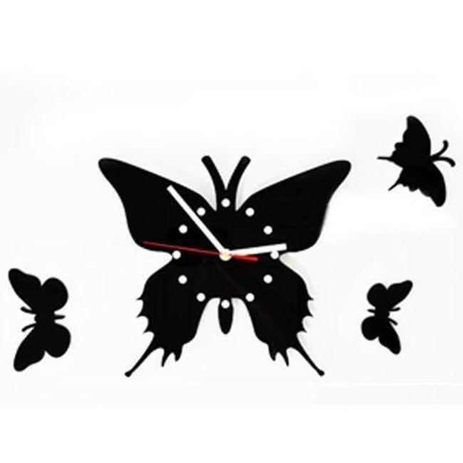 Designové hodiny s motýlky 1