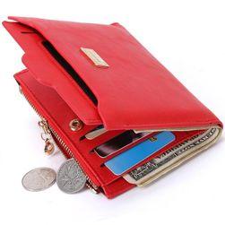 Женски портфейл с отделение за монети - 4 цвята