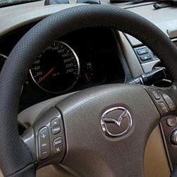 Navlaka za volan od crne PU kože