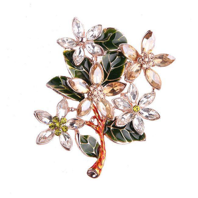 Brož - květina 1