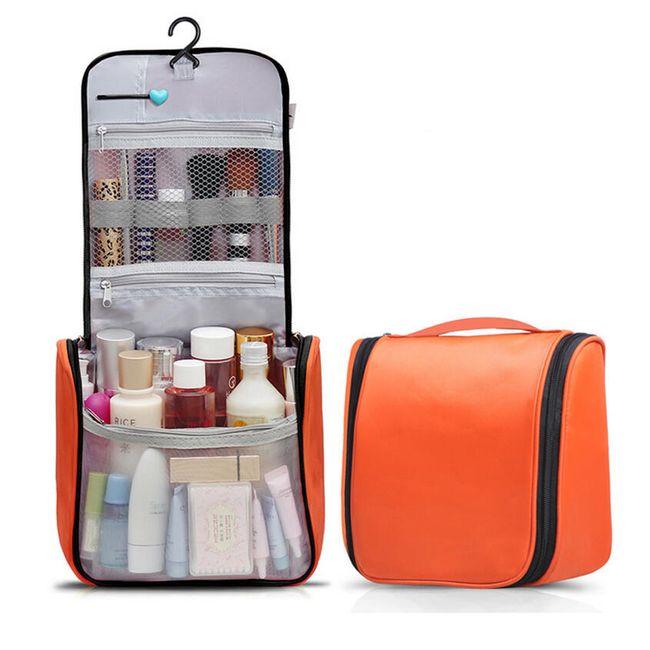 Praktická kosmetická taška s háčkem - 7 barev 1