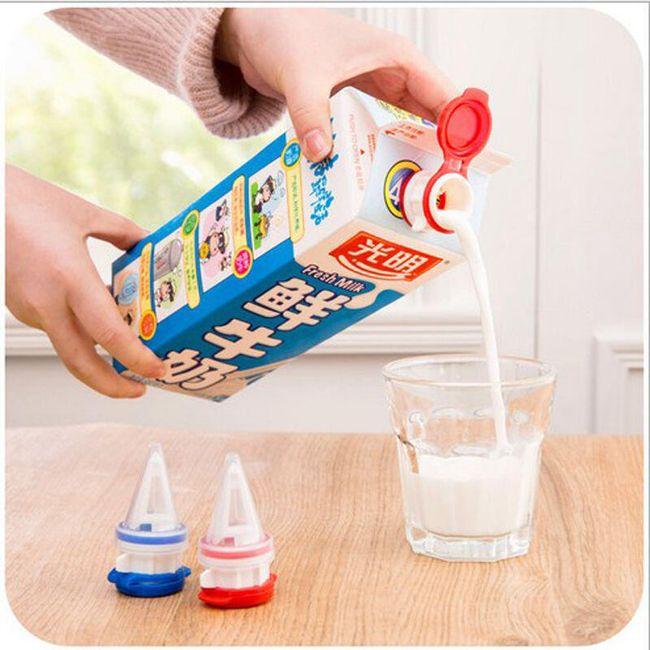 Plastová zátka na krabicové nápoje 1
