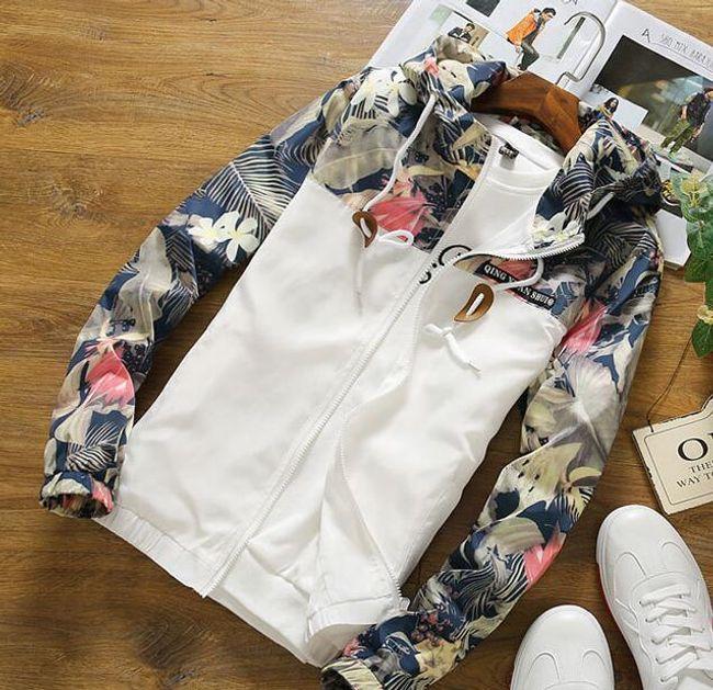 Ženska jakna sa cvetićima na rukavima - 3 varijante 1