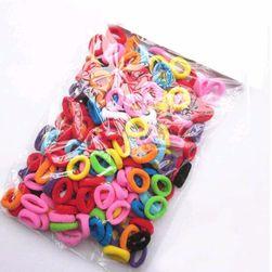 Elastice colorate pentru păr - 100 bucăți